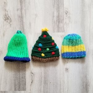 Other - 3pc Knit Baby Hats